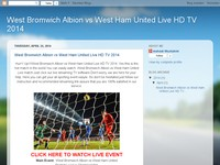 West Bromwich Albion vs West Ham United Live HD TV