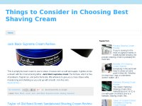 Things to Consider in Choosing Best Shaving Cream