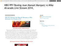 HBO PPV Boxing:Juan Manuel Marquez vs Mike Alvarado Live Stream 2014.