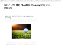 golf The Players Championship Live Stream