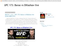 WaTcH :::))))::: UFC 173: Barao vs Dillashaw live