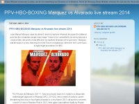 PPV-HBO-BOXING Marquez vs Alvarado live stream 201