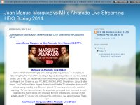 Juan Manuel Marquez vs Mike Alvarado Live Streaming HBO Boxing 2014.