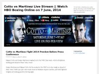 Cotto vs Martinez Live Stream || Watch HBO Boxing