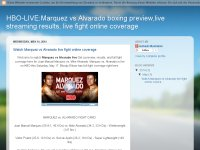 HBO-LIVE:Marquez vs Alvarado boxing preview,live s