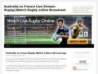 Australia vs France Live Stream Rugby||Watch Rugby