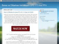 Barao vs Dillashaw live stream PPV UFC-173 Fight