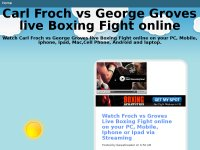 Carl Froch vs George Groves live Boxing Fight online
