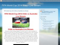 FIFA World Cup 2014 Watch Live Stream.
