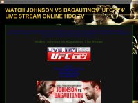 WATCH JOHNSON VS BAGAUTINOV 'UFC-174' LIVE STREAM ONLINE HDQ TV