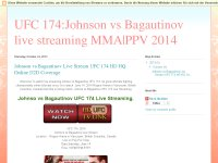 UFC 174:Johnson vs Bagautinov live streaming MMA|PPV 2014