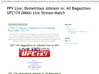 PPV Live: Demetrious Johnson vs. Ali Bagautinov UFC174 (MMA) Live Stream Match