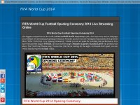 FIFA World Cup Football Opening Ceremony 2014 Live