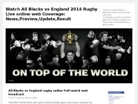 Watch All Blacks vs England 2014 Rugby Live onlin