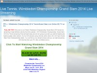 Live Tennis: Wimbledon Championship Grand Slam 2014 Live Streaming