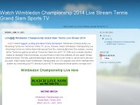 Watch Wimbledon Championship 2014 Live Stream Tennis Grand Slam Sports TV