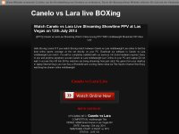 Canelo vs  Lara live boxing showtime ppv