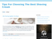 Tips For Choosing The Best Shaving Cream
