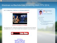 Weidman vs Machida Live Streaming MMA PPV 2014.