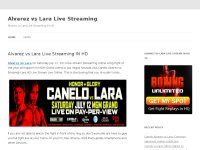 Alvarez vs Lara Live Streaming
