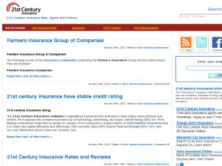 21st Century insurance Rate, Quotes and Policies.