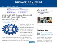 Answer Key 2014
