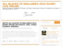 All blacks vs Wallabies 2014 Rugby Live online