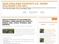 New England Patriots vs. Miami Dolphins Live NFL
