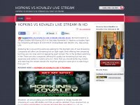 HOPKINS VS KOVALEV LIVE STREAM