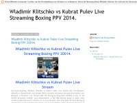 Wladimir Klitschko vs Kubrat Pulev Live Streaming Boxing PPV 20014.
