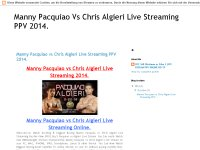 Manny Pacquiao vs Chris Algieri Live Streaming PPV 2014.