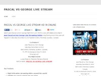 PASCAL VS GEORGE LIVE STREAM