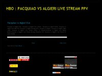 HBO : PACQUIAO VS ALGIERI LIVE STREAM PPV