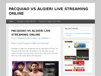 PACQUIAO VS ALGIERI LIVE STREAMING ONLINE