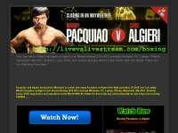 Watch streaming boxing Pacquiao vs Algieri Live