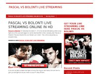 PASCAL VS BOLONTI LIVE STREAMING