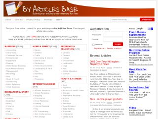 By articles base - submit your articles for free.
