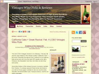 Wine Picks from LCBO Vintages and Reviews