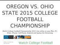 Oregon vs. Ohio State 2015 College Football Championship