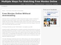 Multiple Ways To Watch Free Movies Online