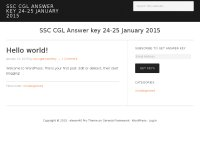 SSC CGL Answer key 24-25 January 2015