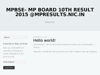 MPBSE- MP Board 10th Result 2015 @mpresults.nic.in