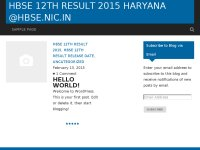 HBSE 12th result 2015 Haryana @hbse.nic.in