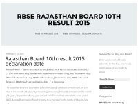 rbse 10th result 2015