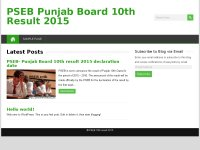 PSEB Punjab Board 10th Result 2015