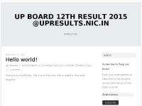 UP board 12th result 2015 @upresults.nic.in