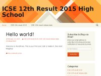 ICSE 12th Result 2015 HIgh School