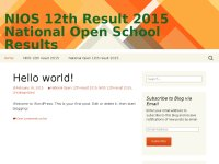 NIOS 12th Result 2015 National Open School Results
