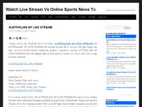 Watch Live Stream Vs Online Sports News Tv.