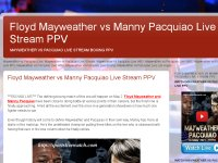 Floyd Mayweather vs Manny Pacquiao Live Stream PPV
